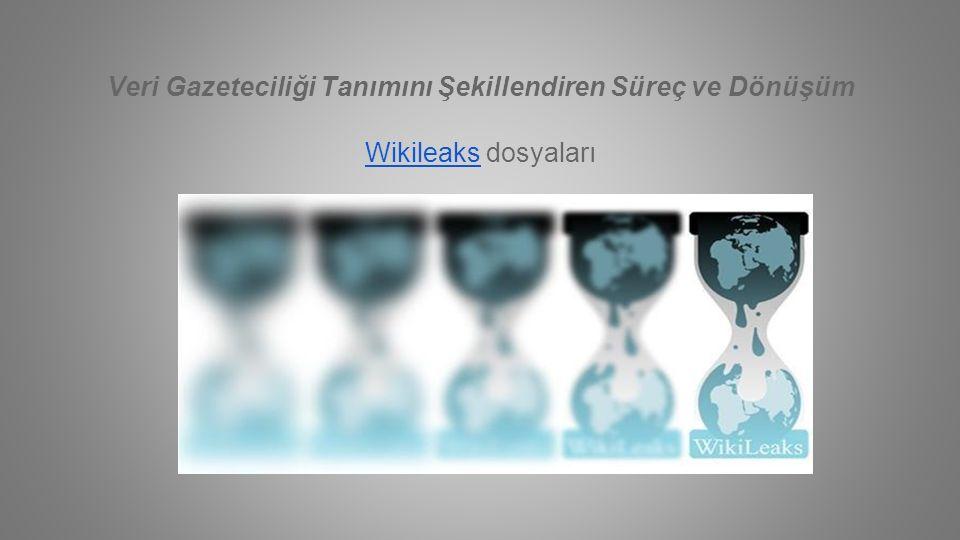 Veri Gazeteciliği Tanımını Şekillendiren Süreç ve Dönüşüm WikileaksWikileaks dosyaları