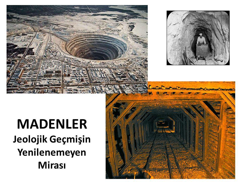 Maden Arama Aşamaları Aranan madenin oluşum özelliğine göre, 1.