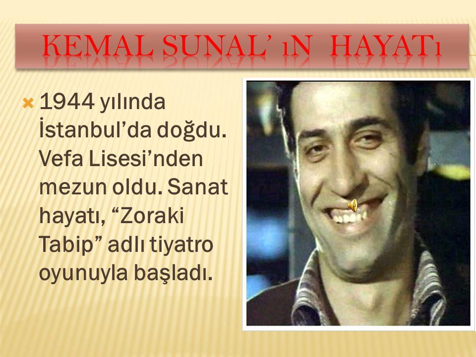""" 1944 yılında İstanbul'da doğdu. Vefa Lisesi'nden mezun oldu. Sanat hayatı, """"Zoraki Tabip"""" adlı tiyatro oyunuyla başladı."""