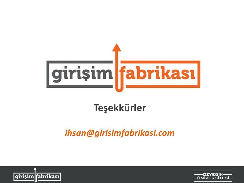 Teşekkürler ihsan@girisimfabrikasi.com