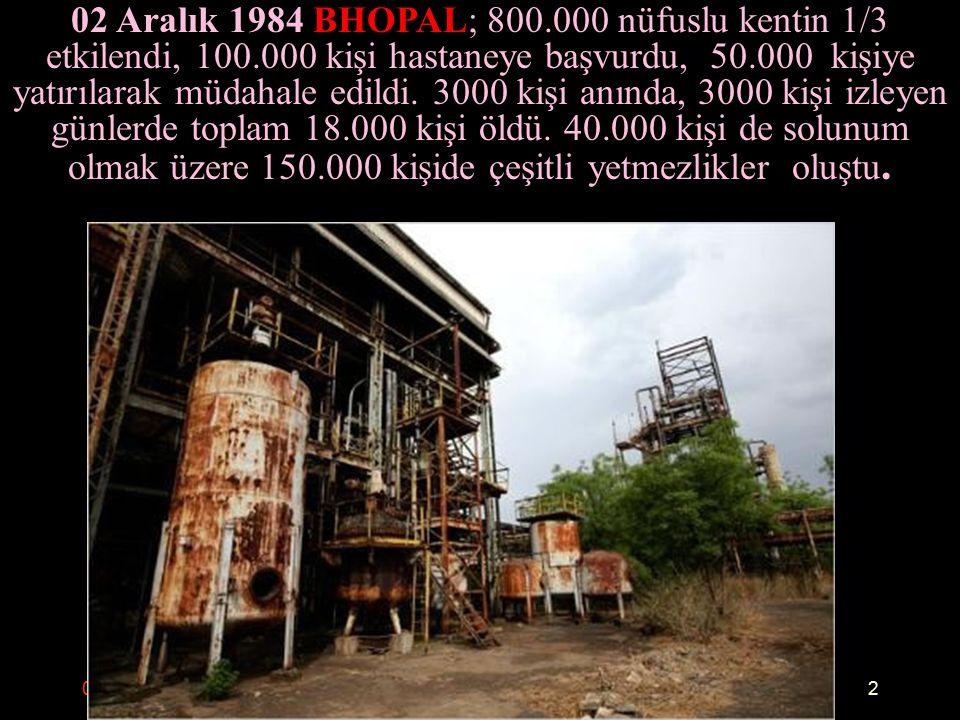 09.10.2015.AKDUR Afetlerde Sağlık Hizmetlerinin Yönetimi3 26 Nisan 1986 ÇERNOBİL; olay sırasında yaklaşık 30 kişi öldü, 135.000 kişi tahliye edildi 5 milyon 300 bin kişiye iyot tableti dağıtıldı, 800.000 kişi çalıştı,