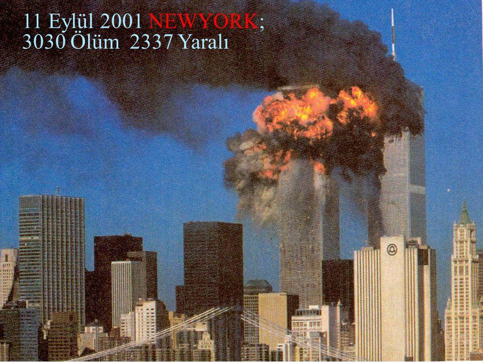 09.10.2015.AKDUR Afetlerde Sağlık Hizmetlerinin Yönetimi5 15-20 Kasım 2003 İSTANBUL 61 Ölüm 600 Yaralı