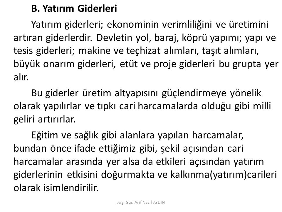 Türkiye Ne Kadar ve Nereye Harcıyor.