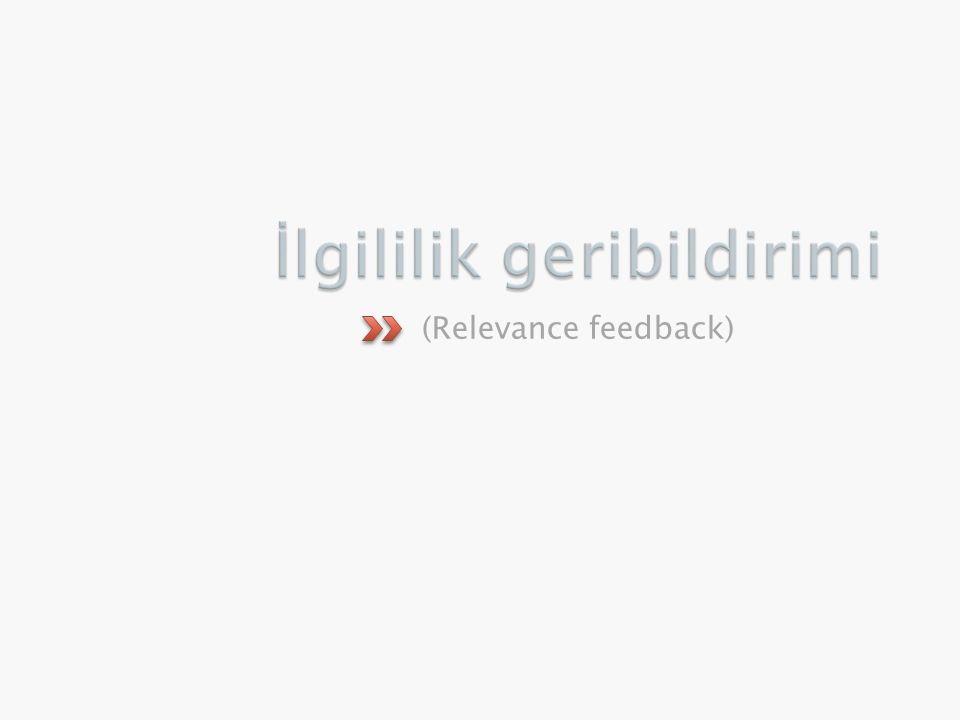 (Relevance feedback)