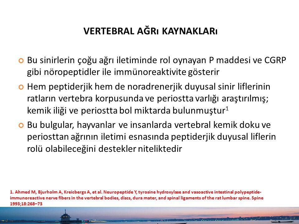 KEMIK AĞRıSıYLA GÖRÜLEN ISKELET SISTEMI HASTALıKLARı 1 Osteomalazi Multipl miyelom Metastatik kemik hastalığı Paget hastalığı Osteoporoz Hiperparatiroidi Fibröz displazi Osteogenesis imperfekta Hipofosfatemi Kompleks bölgesel ağrı sendromu/kozalji Yalancı kemik ağrısı yapan hastalıklar Polimiyaljia romatika Parkinsonizm Hipotiroidi 1.