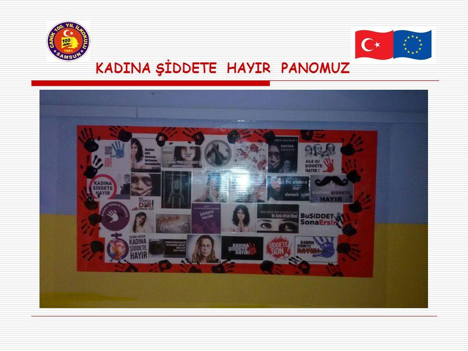 KADINA ŞİDDETE HAYIR PANOMUZ