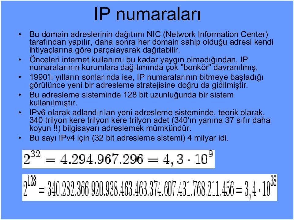 Mevcut IP'lerin Ülkelere Göre Dağılımı
