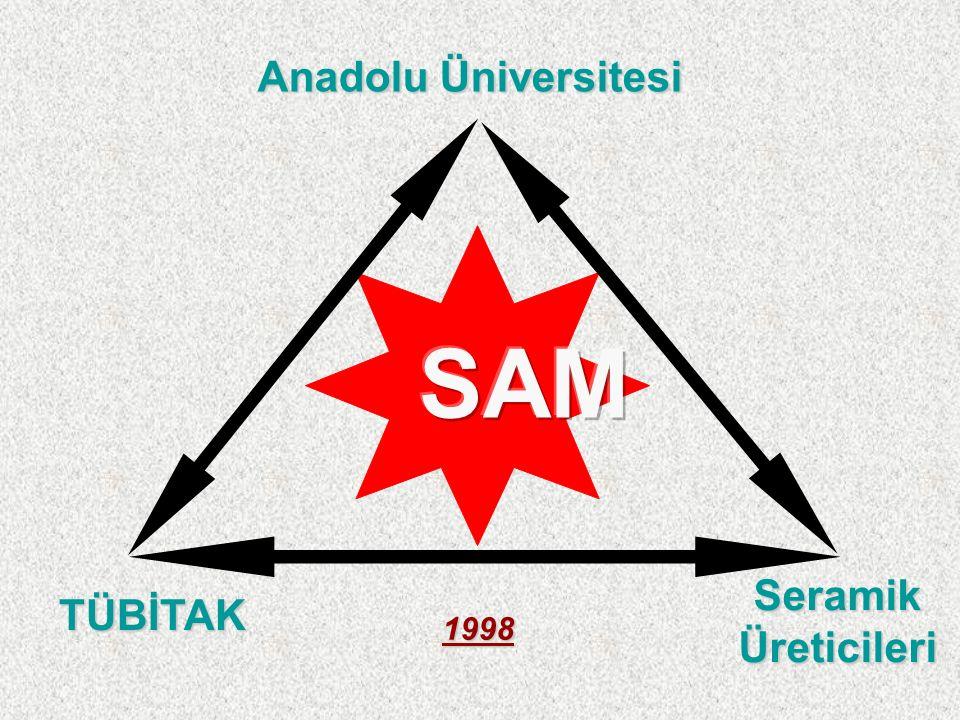 Anadolu Üniversitesi TÜBİTAK Seramik Üreticileri 1998
