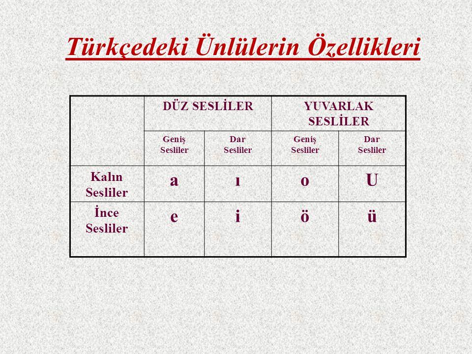 Büyük Ünlü Uyumu (Kalınlık-Genişlik) Türkçe kelimelerde büyük oranda görüldüğü için bu adı almıştır.