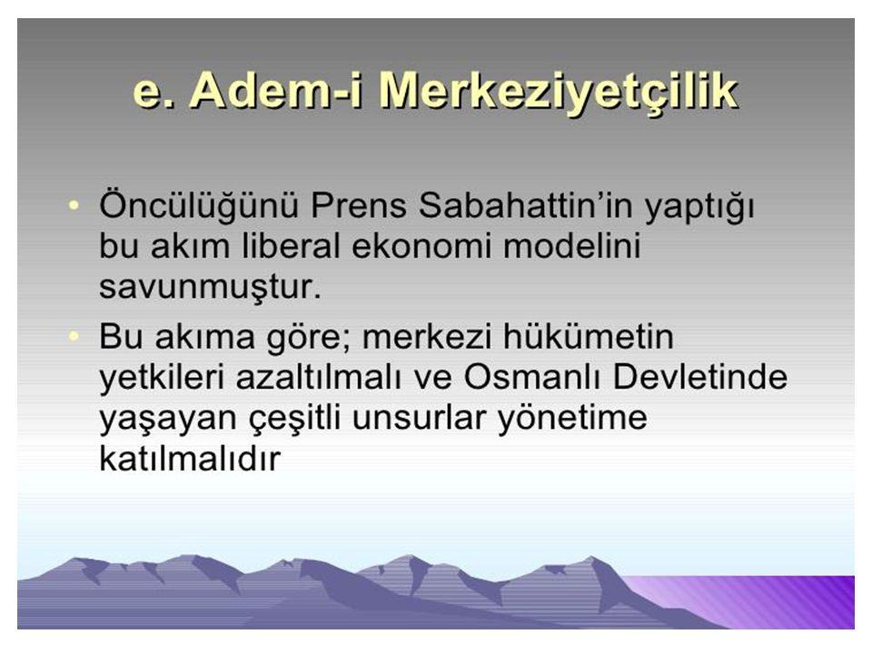 Osmanlının kurtuluşunun tek yolunun batıya ayak uydurmak olduğunu belirten bir görüştür.