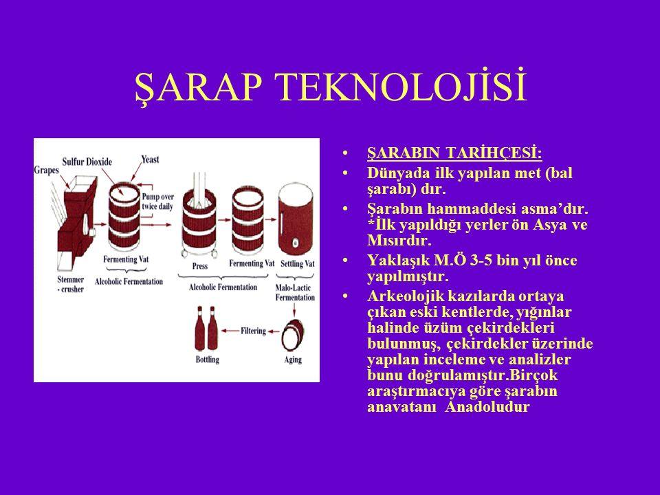2- Dane çatlatma, sap ayırma ve ezme: Üzümün veya o üzümün işleneceği şarabın niteliğine göre sap ayırma işleminin yapılıp, yapılmamasına karar verilebilir.