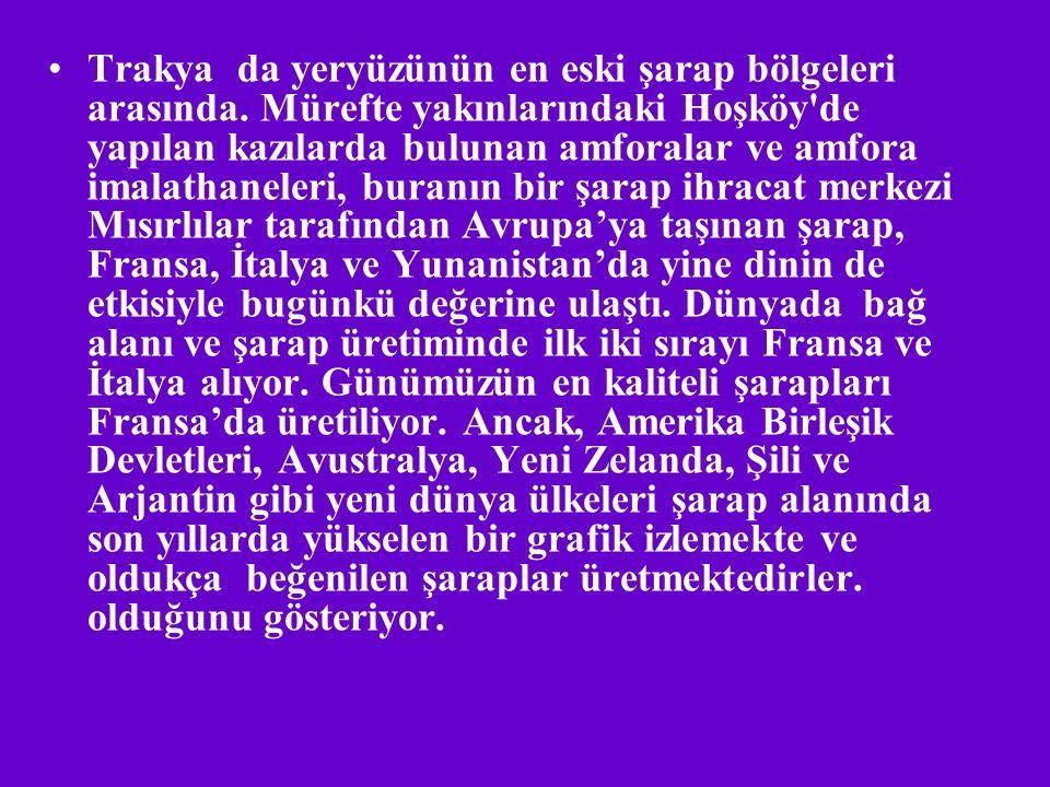 *Türkiye'de yıllık 60.000.000 lt üzüm üretilir.