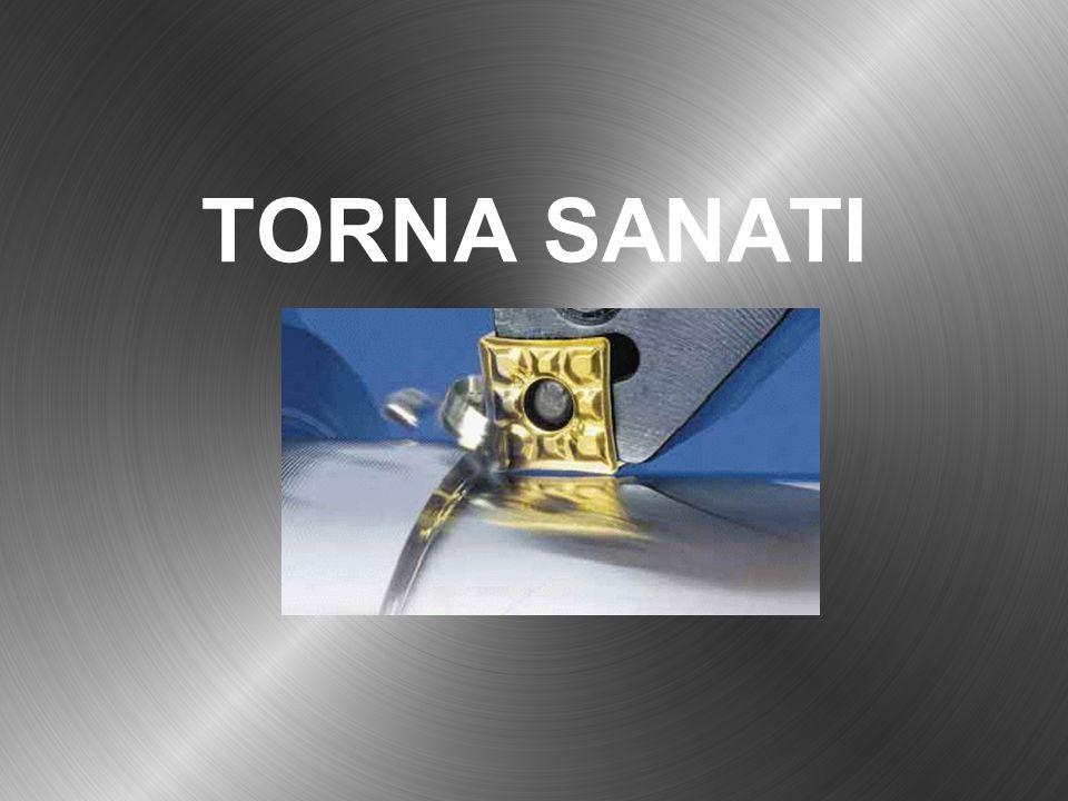 Tornada Vida Açma Torna tezgahında üçgen vidanın yanında farklı profillere sahip vida açmak mümkündür.