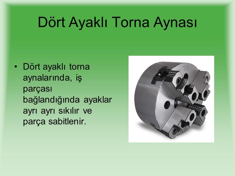 3- Konik Tornalama tertibatı Kullanarak konik tornalama Konik tornalama tertibatı ile iç ve dış konik tornalama işlemleri en hassas şekilde yapılabilir.