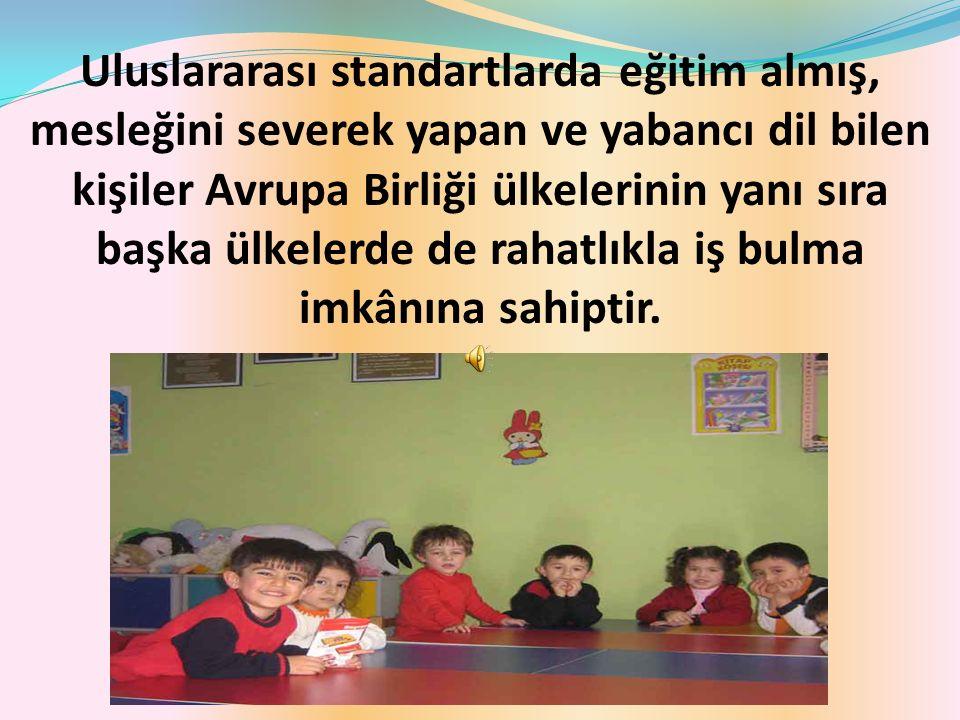 Kız meslek lisesi çocuk gelişimi ve eğitimi mezunları, kreş, yuva, anaokulu, ana sınıfı ve çocuk kulüplerinde yardımcı öğretmen olarak görev yapmaktadırlar.