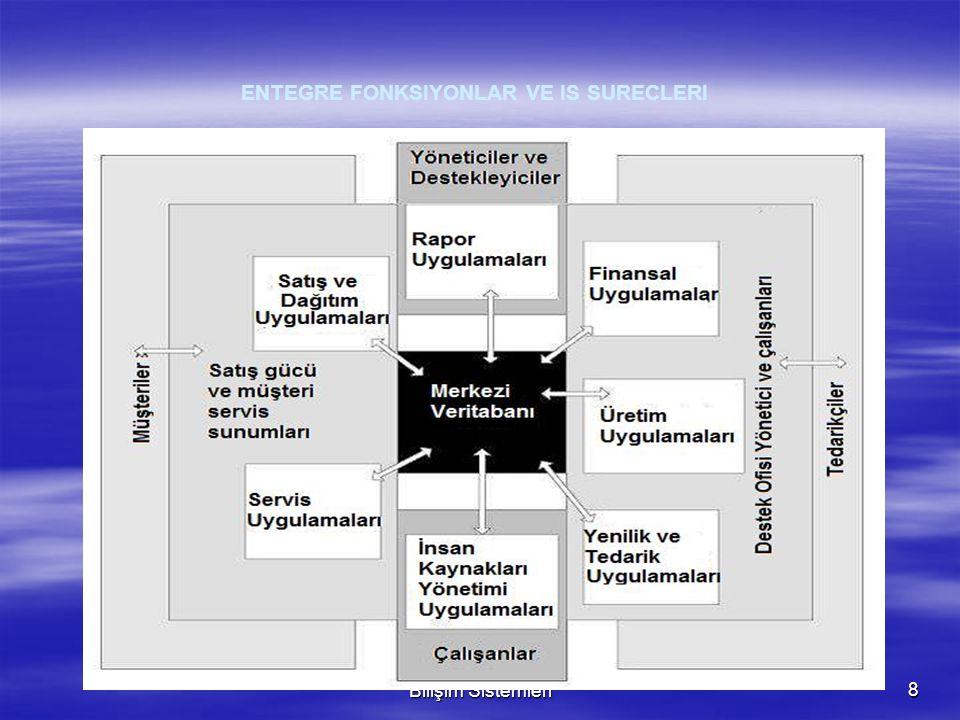 Dr. Erman COŞKUN Yönetim Bilişim Sistemleri8  Firma Yapısı ve Organizasyonu: Tek organizasyon  Yönetim: Firma capinda bilgi tabanli yönetim süreçler