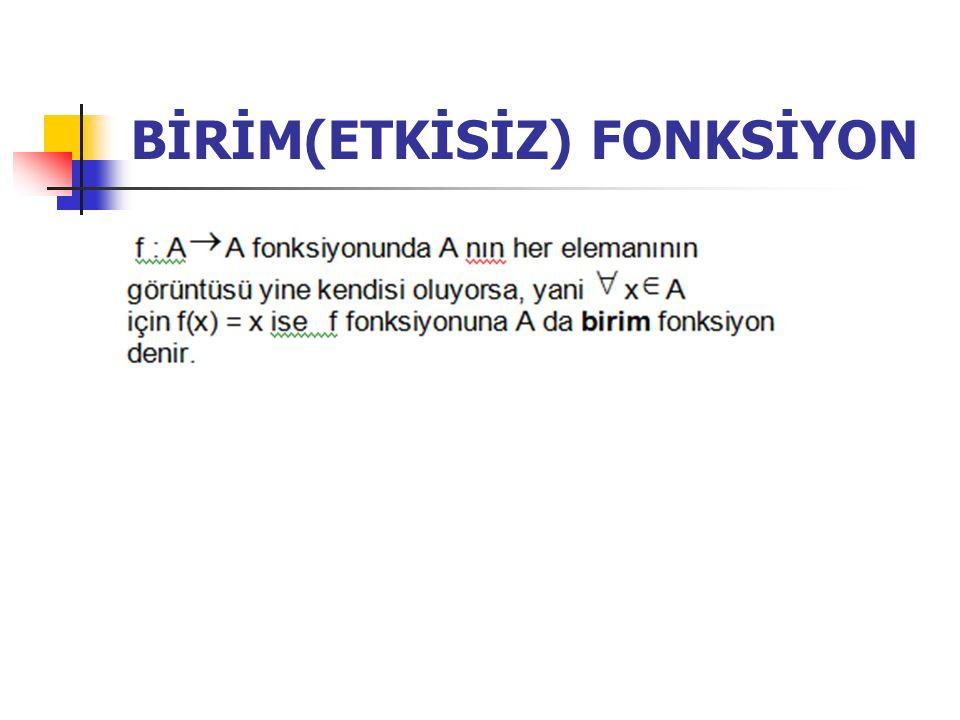 BİRİM(ETKİSİZ) FONKSİYON