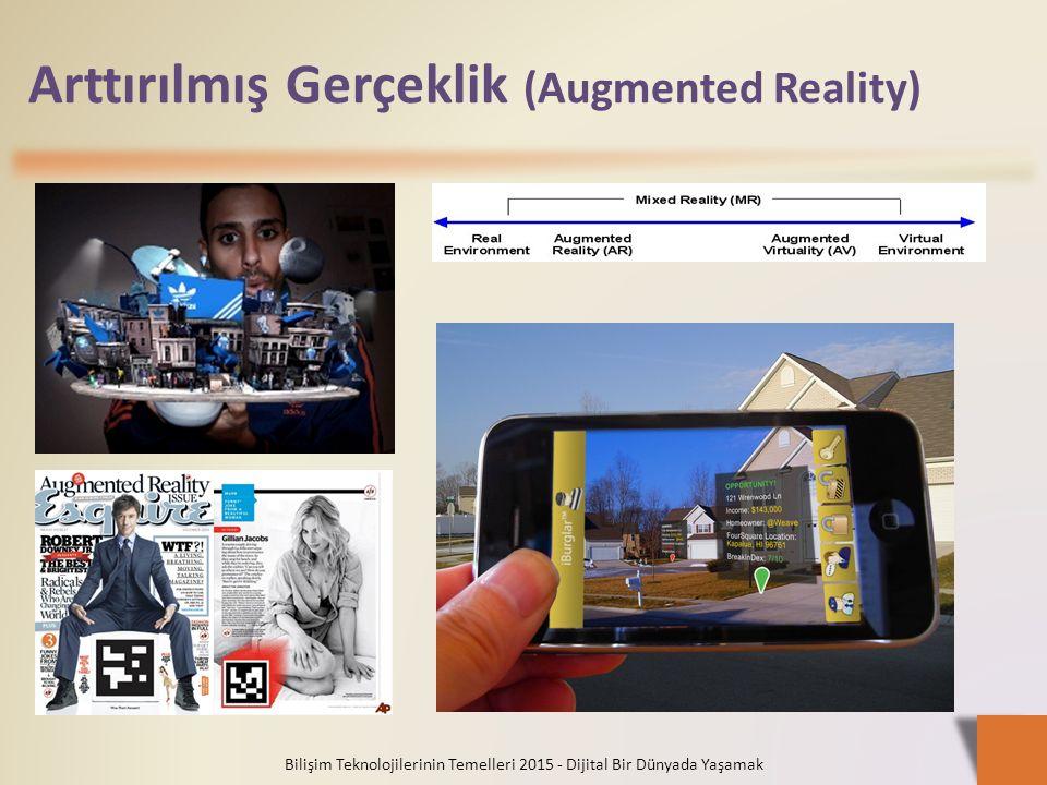 Arttırılmış Gerçeklik (Augmented Reality) Bilişim Teknolojilerinin Temelleri 2015 - Dijital Bir Dünyada Yaşamak