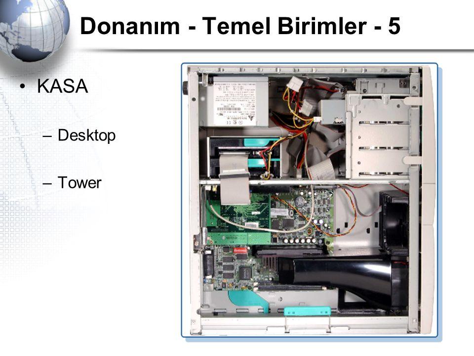 Donanım - Temel Birimler - 5 KASA –Desktop –Tower