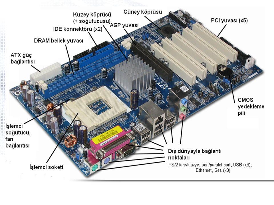 Donanım - Temel Birimler CPU –Merkezi İşlemci Birimi (Central Processing Unit) –PC'nin beynidir.