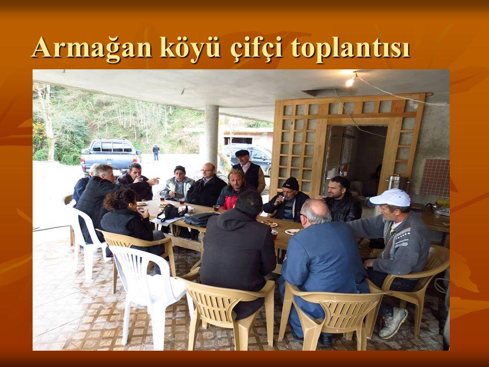 Armağan köyü çifçi toplantısı