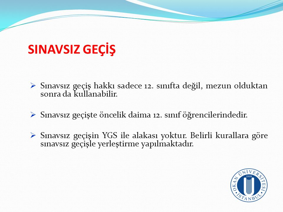 MF (SAYISAL) PUAN TÜRLERİ Puan Türü TESTLERİN AĞIRLIKLARI (% OLARAK) YGS LYS-1LYS-2 Türkçe Tem.