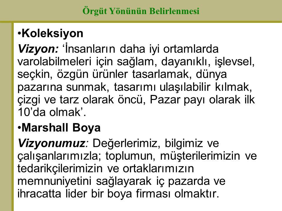 Örgüt Yönünün Belirlenmesi TUSAŞ Motor Sanayii A.Ş.