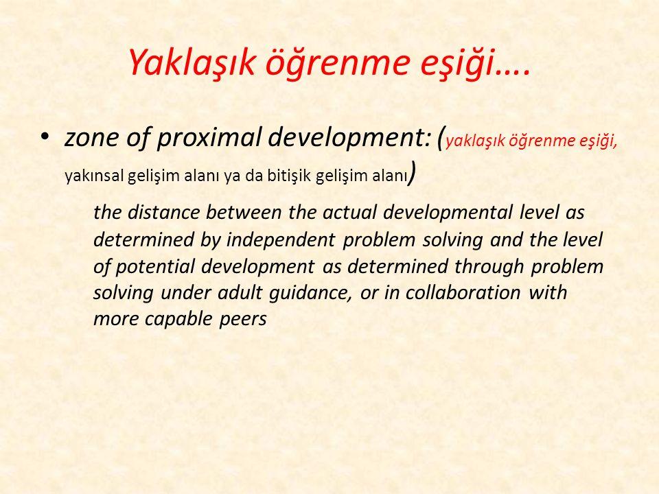 Bilişsel gelişimci yaklaşım…… Vygotsky Vygostsk'ye göre kavramlar iki şekilde öğrenilir: – kendiliğinden edinilen kavramlar ve – öğretilen kavramlardı