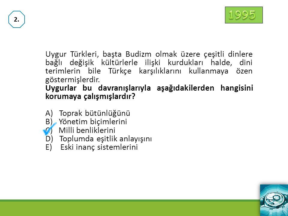 I.Türk topluluklarının farklı boylardan oluşması II.