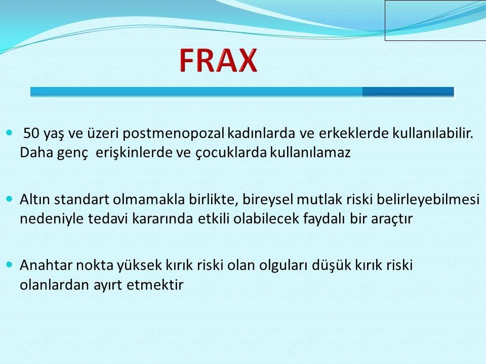 FRAX Düşük kemik yoğunluğu olan hastalar? Gereksiz tedaviler?