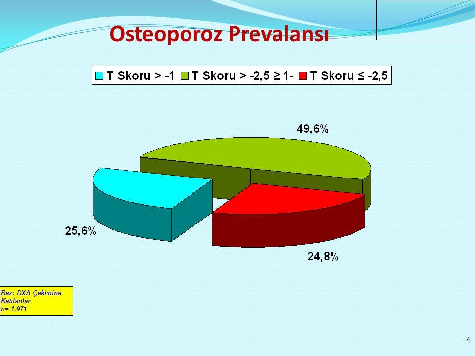 n: 1.029n: 942 > >: İstatistiki Anlamlı Fark Var Osteoporoz Prevalansı / Cinsiyet