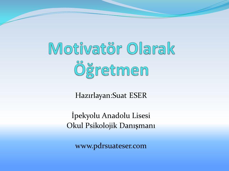 Hazırlayan:Suat ESER İpekyolu Anadolu Lisesi Okul Psikolojik Danışmanı www.pdrsuateser.com
