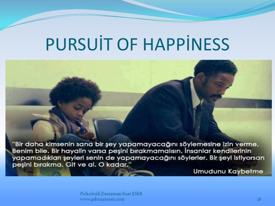 PURSUİT OF HAPPİNESS Psikolojik Danışman Suat ESER www.pdrsuateser.com18