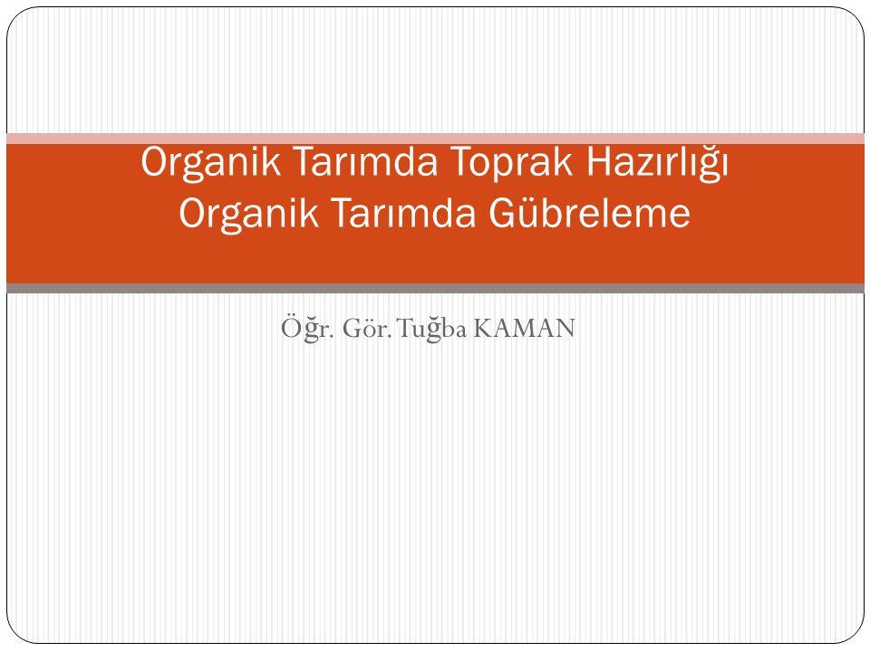 Tarım alanlarında çe ş itli tarımsal i ş lemlerden dolayı organik madde oranları zamanla azalmaktadır.