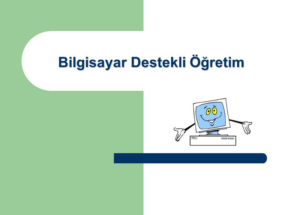 32 Bilgisayar Destekli Eğitimin Sınırlılıkları Ancak ülkemizde farklı alanlarda ve konularda hazırlanmış BDÖ yazılımlarının ve materyallerin öğretim programları ile uyumluluğu bazen sağlanamamaktadır.