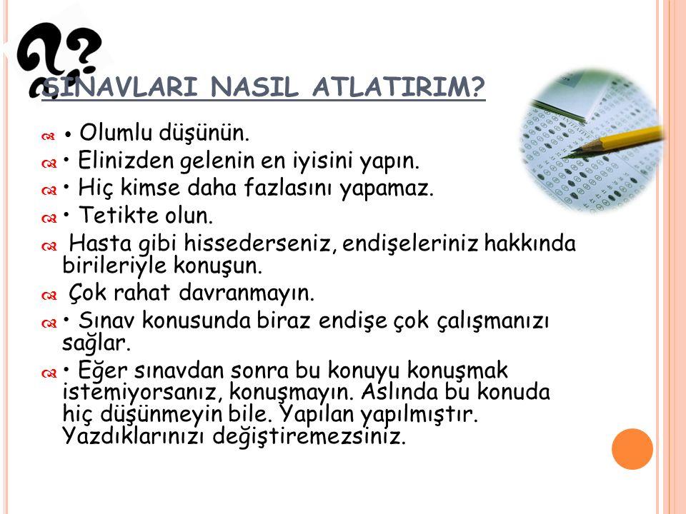 X- SINAVLARI NASIL ATLATIRIM. Öğretmenlerinize sınava nasıl çalışılabileceğini sorun.