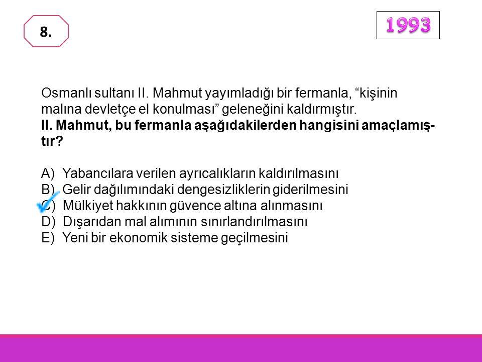 Aşağıdakilerden hangisi Osmanlı İmparatorluğu 'nda XVII.