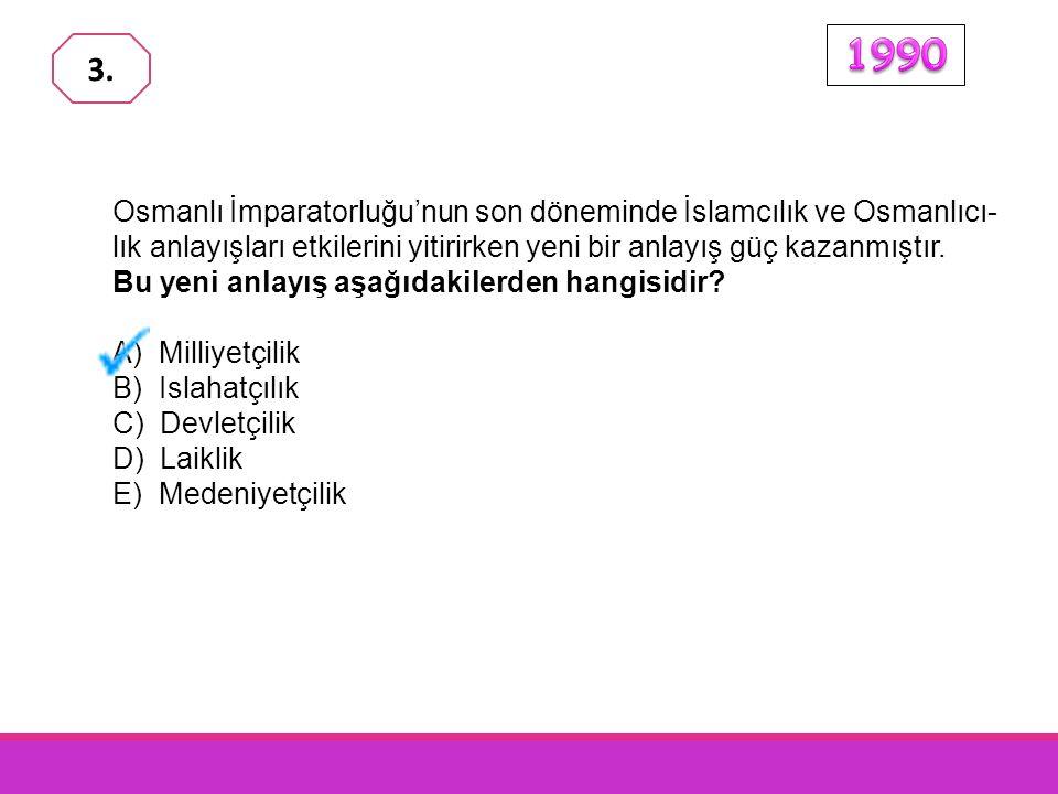 Osmanlı İmparatorluğu'nun son döneminde İslamcılık ve Osmanlıcı- lık anlayışları etkilerini yitirirken yeni bir anlayış güç kazanmıştır.