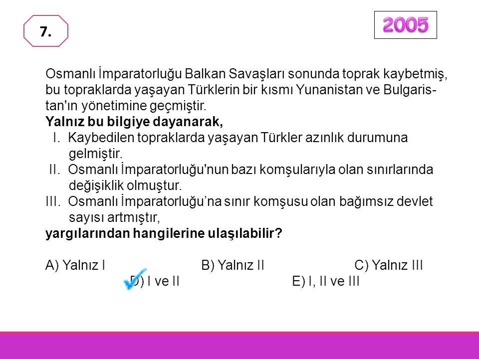 Osmanlı İmparatorluğu Balkan Savaşları sonunda toprak kaybetmiş, bu topraklarda yaşayan Türklerin bir kısmı Yunanistan ve Bulgaris- tan ın yönetimine geçmiştir.