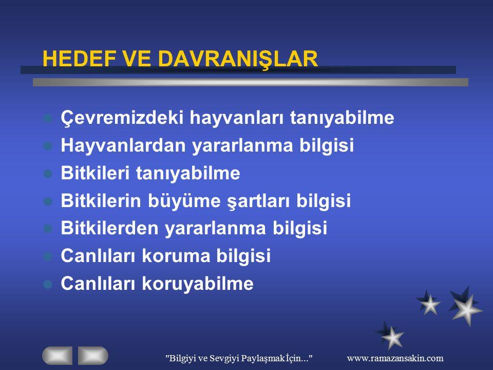 Bilgiyi ve Sevgiyi Paylaşmak İçin... www.ramazansakin.com 4)Aşağıdakilerden hangisi yanlıştır.