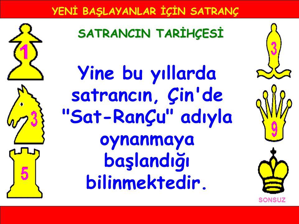 YENİ BAŞLAYANLAR İÇİN SATRANÇ TÜRKİYE'DE SATRANCIN TARİHÇESİ SONSUZ 1954 yılında da Türkiye Satranç Federasyonu kuruldu.