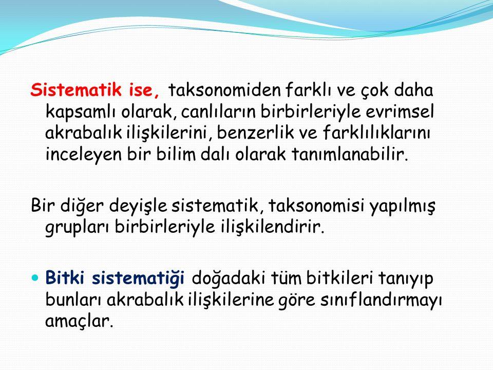 Kaynaklar Tohumlu Bitkiler Sistematiği; Prof.Dr.