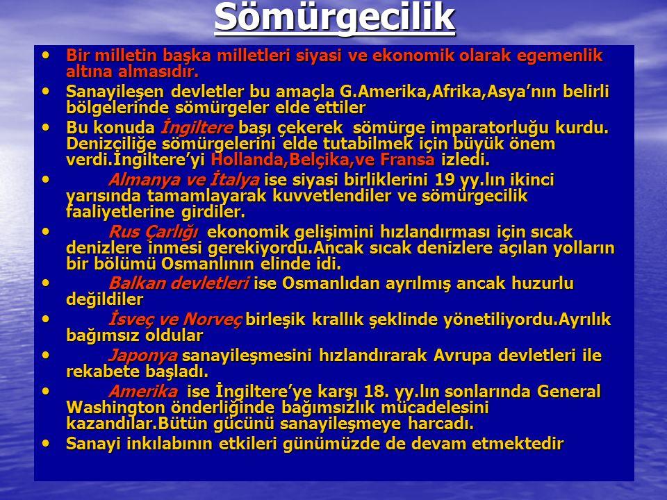Dünya Savaşı'nın Genel Sonuçları Osmanlı İmp.,Rus Çarlığı, Avusturya-Macaristan İmp ve Alman İmp.