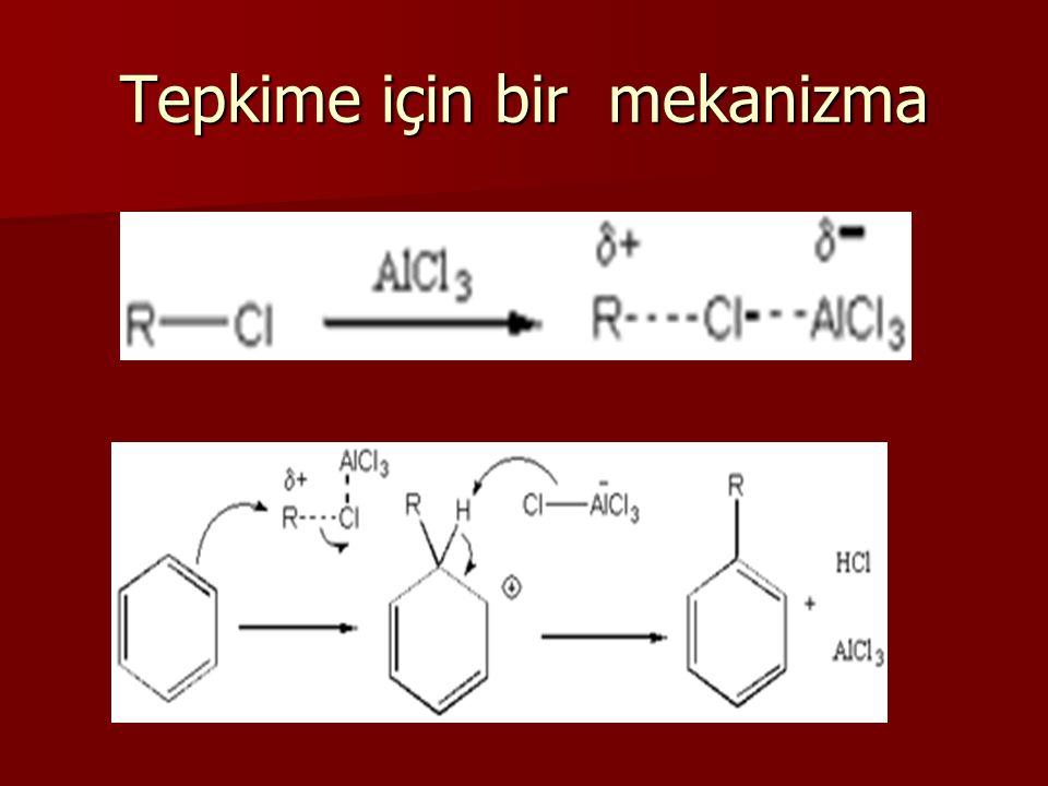 Alkilleme reaksiyonuda ilk önce alkil katyon oluşur.