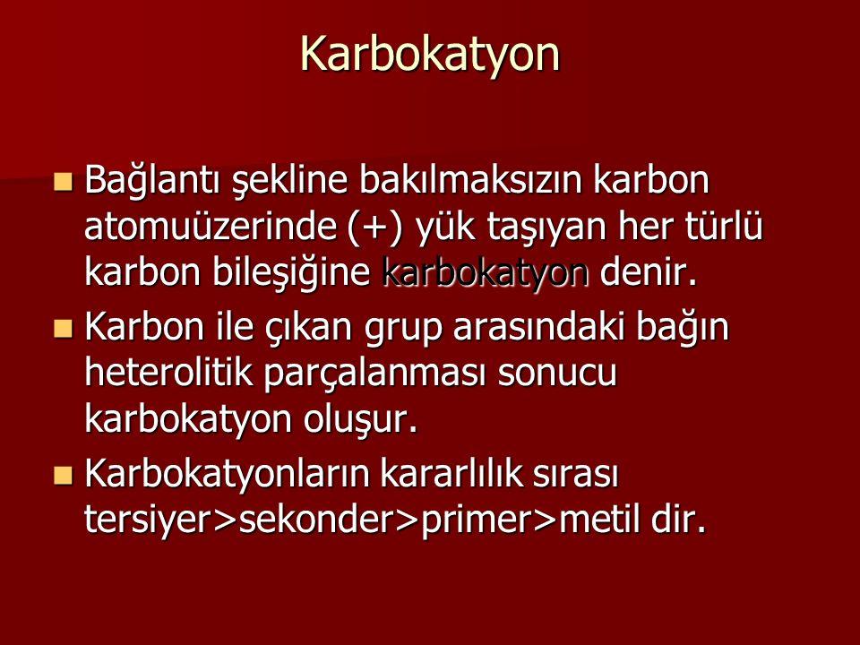Karbokatyon mekanizması