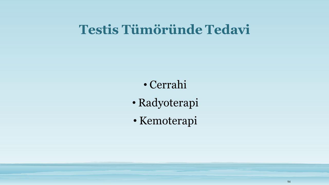Testis Tümöründe Tedavi Cerrahi Radyoterapi Kemoterapi 94