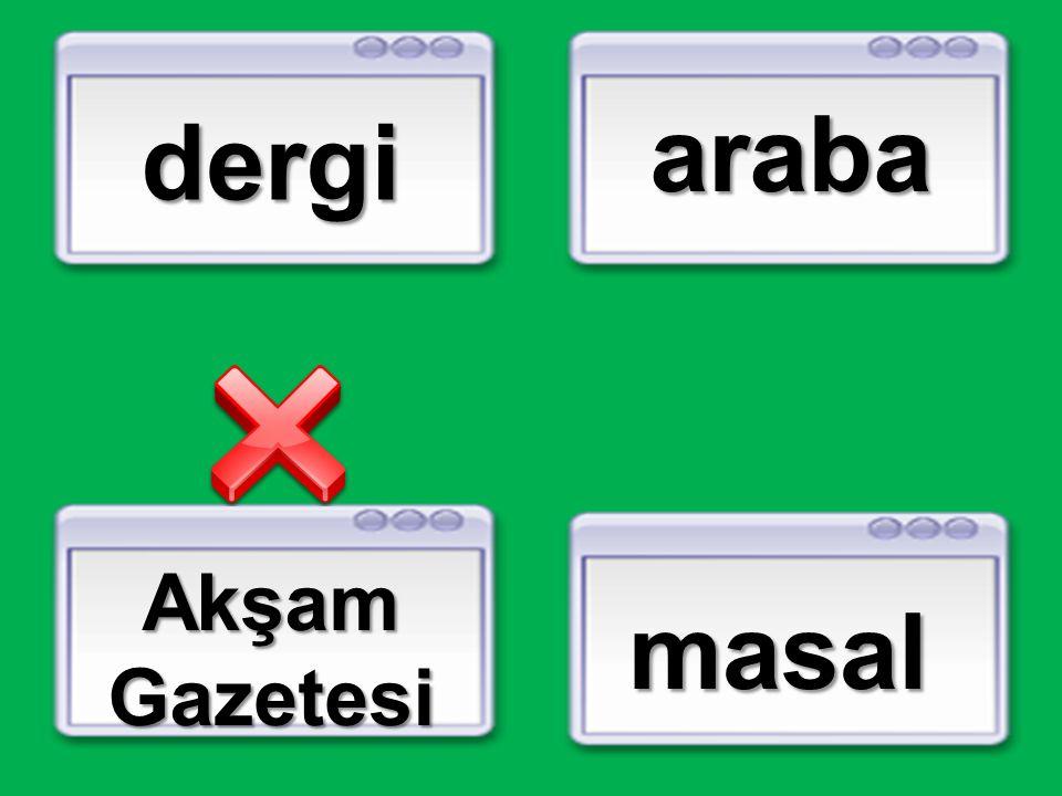 dergi araba Akşam Gazetesi masal
