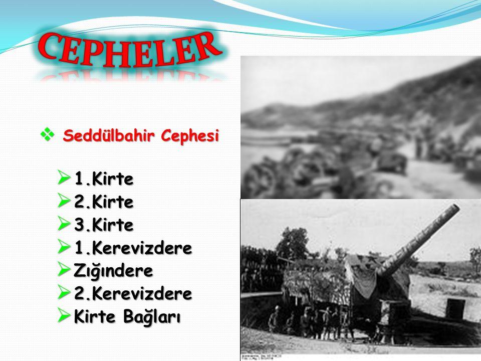  I. dünya Savaşı sırasında 19 Şubat 1915 -9 Ocak 1916 yılları arasında,  Gelibolu Yarımadası'nda,  Osmanlı İmparatorluğu ile İtilaf Devletleri aras