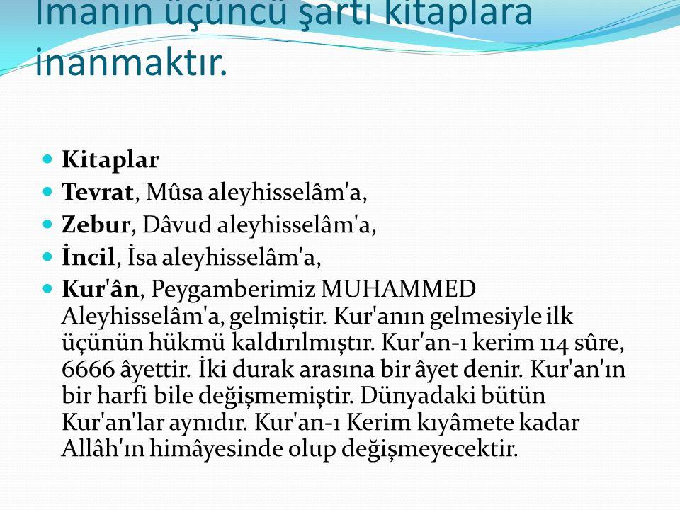 Suhuf (Sayfalar) 10 Suhuf, ÂDEM aleyhisselâm a, 50 Suhuf, ŞİT aleyhisselâm a, 30 Suhuf, İDRİS aleyhisselâm a, 10 Suhuf, İBRAHİM aleyhisselâm a, gönderilmiştir ki, tamamı 100 sahifedir.