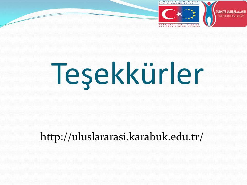 Teşekkürler http://uluslararasi.karabuk.edu.tr/